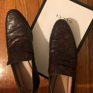Authentic Guccisimma brown loafers